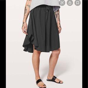 Lululemon The Everyday Skirt Black size 4